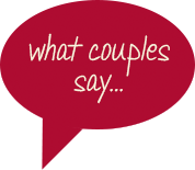 what couples say...